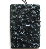 Wholesale Good Black Jade - 2016 xinjiang black jade hand-carve Nine dragon jade pendant bring blessing and good luck fashion Jewelry black jade pendant