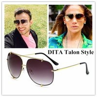 Wholesale plastic aviator glasses - Brand Designer-2017 Fashion D T Talon Style Gradient Aviator women men Sunglasses Alloy Frame Sun Glasses Vintage Oculos De Sol Gafas