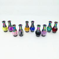 ingrosso punte a goccia in teflon-ASD Rainbow Acrylic Hybrid Ming Vase 510 Drip Tips Bocchino ricco di colori per Nova UDCT Glass Protank E Cigarette Tanks