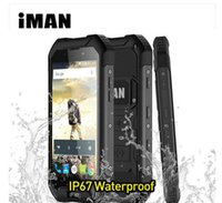 "Wholesale Dual Sim Android Ip67 - Original Iman X5 IP67 Waterproof Smartphone 3000mah 4.5"" MTK6580 Quad core 1GB+8GB 5MP 3G WCDMA Shockproof Android 5.1 IP67 Waterproof mobil"