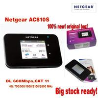 Wholesale Aircard Unlocked - Original Unlocked touch screen Netgear Aircard AC810S 810S Cat11 600Mbps 4GX Advanced III 4G LTE Mobile Hotspot