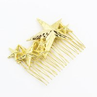 Wholesale Starfish Hair Jewelry - Starfish & Stars Hair combs hairwear for women girls Gold Plated combs Hair Accessories New Fashion design Hairpins hair Jewelry for gifts