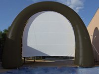 5mx4m outdoor cinema screen - free standing outdoor cinema movie semicircle inflatable screen for sale