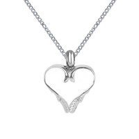 Wholesale Wheat Chain Steel - Lily Cremation Jewelry White Heart Wheat Urn Necklace Memorial Ash Keepsake Pendant With Gift Bag Funnel and Chain