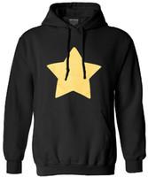 ingrosso cappuccio universo-Felpa uomo Steven Universe harajuku felpe abbigliamento di marca STAR COOKIE GATTO divertente stampa uomo manica lunga moda autunno