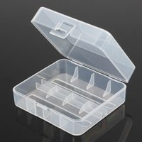 Wholesale Transparent Lcd For Sale - Hot Sale PP Transparent Hard Plastic Case Holder Storage Box for 2x 26650 Rechargeable Battery 7.5x6.6x3cm