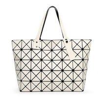 Wholesale Coffee Mosaic - 2017 New Fashion Women Pearl Bag Diamond Lattice Tote Geometry Quilted Handbag Geometric Mosaic Shoulder Bag
