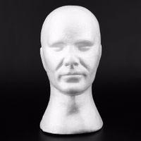 cabezas de maniquí de hombres al por mayor-Hombres creativos masculinos Smooth Mannequin Head Model Peluca Sombrero Glasses Caps Display Bubble Mannequin Head With Ears Atts and Crafts