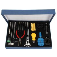 Wholesale Watch Holder Tool - Wholesale-Professional 20Pcs Watch Repair Tool Kit Set With Case Watch Tools Watchmakers Tool Kit  Watch Case Opener  Hand Remover Holder