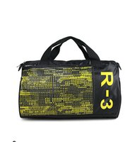 Wholesale Cylinder Leather Bag - High Quality Black Nylon Cylinder Hand Bags Women Mens Duffle Bag Travel Mochila