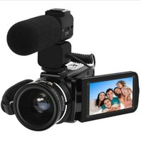 Wholesale Hd Plugs - Full HD Digital Camera Z20 1080P 30FPS Portable Digital Video Camera Recorder with External Microphone Rotate LCD Screen US Plug