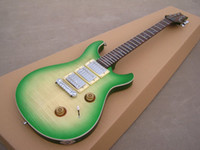 Wholesale Thin Electric Guitar - OEM Guitar New Arrival RPS electric guitar SEE thru thin green burst, HHH pickup,high grade!