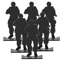 soldados modelo al por mayor-Ar 15 táctico 6 unids airsoft accesorios para armas de caza hierro metal soldado modelo objetivos de tiro para la caza negro