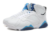 Wholesale Li Ning Sneakers - 2015 New Arrival French Blue 7 VII Cheap Mens Basketball Shoes Athletic Shoes Sport Shoes White Blue Red Sneakers 5 Colors