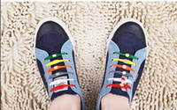 Wholesale Button Style Silicone - Free Shipping Shoe Vitie New creative lazy shoe laces colorful silicone shoelaces no tie V tie shoe laces normal and glow in dark style