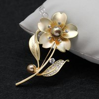 Wholesale China Wholesale High End Jewelry - Hot brooch High-end brooch jewelry High quanlity pin flower brooch wholesale Temperament joker dumb silver or gold pin rose flower brooches