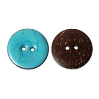 Wholesale Blue Buttons 25mm - Handmade 10pcs Natural Color Blue Coconut Shell Buttons Sewing Scrapbooking Patterned Blue 25mm For Arts Crafts Collections I107L