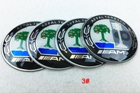 Wholesale Car Alloy Emblem Logo - 56mm 65mm aluminum Car Bz AMG Black Blue Siver Wheel Hub Center Caps Emblem Styling BZ Logo Wheel Sticker For G ML S E CLK ALL MODEL