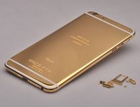 24K 24ct Glitter boîtier métallique en aluminium d'or pour iPhone 6 New Replacement Part Mirror Case Limited Edition de luxe de couverture