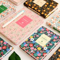 Wholesale Schedule Book - Wholesale- Korean Cute PU Leather Cover Floral Flower Schedule Book Diary Weekly Monthly Planner Organizer Notebook Kawaii Stationery