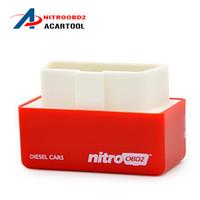 vw güç yongası toptan satış-2018 NitroOBD2 Dizel Oto Yonga Ayarlama Kutusu nitroobd2 Fiş ve Tahrik OBD2 Chip Tuning Box Daha Fazla Güç / Daha Fazla Torque NitroOBD2 Chip Tuning Box