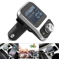 Wholesale free music tuner - Car MP3 Music Player Bluetooth Kit LCD Auto Radio Audio Stereo Player Hands-free FM Transmitter with Dual USB CAU_21N