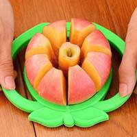 Wholesale pear corer slicer resale online - New Corer Slicer Easy Cutter Cut Fruit Knife Cutter For Apple Pear Mini stainless steel apple slicer WX C35