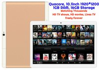 Wholesale Mtk 3g Tv - 1pcs Android Tablet TV watching Thousands of HD Movies and HD TV shows MTK Quadcore 1GB 16GB 10.1inch HD 3G WIFI Bluetooth GPS