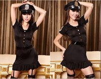 Wholesale Sexy Lingerie Dancers - Free shipping sexy police uniform role-playing DS lead dancer sexy lingerie sexy role Ms. Police Set EU695
