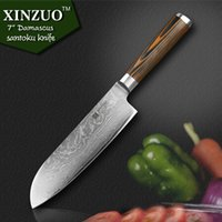 """Wholesale German Steel Kitchen Knives - XINZUO 7"""" inches chef knife german knife Damascus kitchen steel vg10sharp Japanese chef knife"""