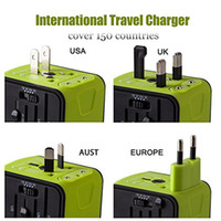 Wholesale Travel Worldwide Plug Adapter - Universal Travel Adapter 2.4A Dual USB Worldwide Travel Power Adapter Plug Wall Charger for US UK EU AU with Package