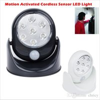 Wholesale led battery motion - Motion sensor led wall lights cordless indoor cabinet light ourdoor garden patio wall sconces cool warm white