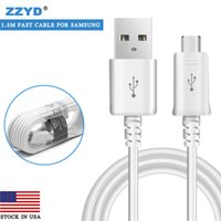 Wholesale High Quality Iphone Cables - ZZYD Micro usb cable High quality 1.5M 5FT Data Sync Data Charger Cable Cord Wire For note 4 note 3 S6 S4