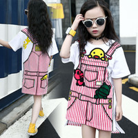 Wholesale christmas pants for girls - Kids Tops for Girls Long Sleeve Cotton Cartoon T-shirts Children Spring Clothes Belt pants printing Girls Print Tops