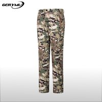Wholesale Polartec Fleece Pants Xl - Wholesale-2016 Outdoor Camouflage Shark Skin Soft Shell Pants Waterproof Windproof Fleece Mountain Hunting Thickening Grab Sweat