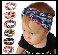 Wholesale Knitted Heart Headband Wholesale - 2016 Kids Baby Baby Toddler Soft Girl Kids Cross Hairband Turban Knitted Knot Headband Headwear Hair Bands Hair Accessories