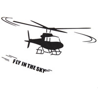 Wholesale Helicopter Room Decor - Brand New Helicopter Copter Wall Stickers Wall Decal Home Room Decor Wall Sticker Art Mural Wallpaper Beautiful Design