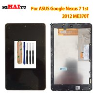 Wholesale asus google nexus lcd - Digiziter LCD For ASUS Google Nexus 7 nexus7 2012 ME370T LCD Display Panels Touch Sreen Assembly Repair Parts Replacement