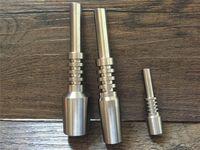 ingrosso punte in titanio da 14 mm di nettare-10mm 14mm 18mm Nectar Collector Chiodo in titanio Chiodo rovesciato GR2 Punta in titanio per miele Dab Paglia concentrato Tubi per acqua in vetro Bong Oil Rigs