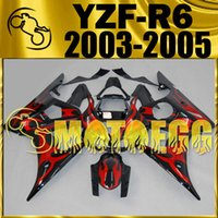 Five Gifts Motoegg Aftermarket Injection Mold Personalizar Fairings Kit para Yamaha YZF-R6 2004 2005 YZF R6 04 05 Flamas Fairings Complete Set