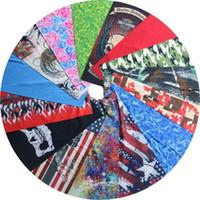 mehrfachschal nahtloses bandana großhandel-Großhandels-100pcs / lot Art- und Weiseradfahrenschädel-Flammen multi Zweck-Röhrenschal-Bandana Multifunktions-Stirnbänder nahtlose Abnutzung
