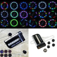 Wholesale Motorcycle Display - 14 LED 8 Colors Bicycle Motorcycle Cycling Spoke Wheel LED Light 32 Patterns Powered by 1xAAA Battery Dual Side Display