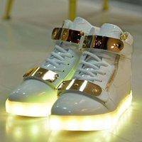 Led Luminous Shoes for sale - 7 Colors Unisex Led Luminous Light Shoes Men Women Fashion USB rechargeable Light Led Shoes for Adult Black White 36-44 NX4008 free shipping