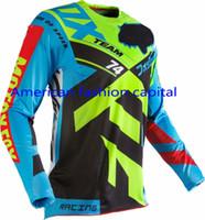 Wholesale Atv Shirt - Wholesale-free shipping!2016 Adult 360 Divizion Blue Yellow Jersey Motocross Dirtbike MTB ATV Mountain Bike T-shirt Downhill Moto Jerseys