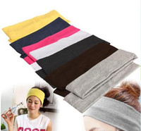 Wholesale Sports Bandanas - New Stretch Headband Sports Yoga hair band Sweat Head Wrap Unisex good Stretch Bandanas 1200pcs lot