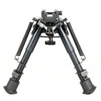 """New Arrival Black Color Bipod Metal Spring Eject Tactical 6"""" M3 Bipod For Outdoor CL17-0014"""