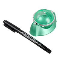 Wholesale Indoor Golf Training - Indoor Outdoor Playing Golf Ball Liner Marker Template Drawing Alignment Tool + Pen Training Golf Practice Set New 2513002