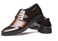 Wholesale men italian patent shoe - 1pc Matching Shoes And Bags Men Shoes Black Brown Men's Sneakers Leather Shoes italian Men Shoes Platform Sneakers