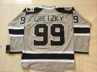 Wholesale 99 Silver - 2014 Stadium Series LA Kings Hockey Jerseys #99 Wayne Gretzky Jersey Silver Ash Grey Los Angeles Kings Stitched Jerseys C Patch