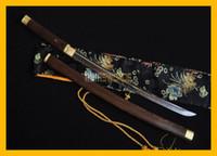 Wholesale Japanese Samurai Swords Katana - COLLECTION SWORD for decorate Full Tang Authentic Handmade Hand Forged T10 1095 Steel Japanese Samurai Katana Warrior Wakizashi Sword #182